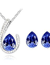 cristal goutte d'eau collier de bijoux de la série des femmes
