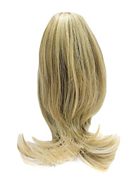 Golden Blonde Synthetic Rabo Ondulado Longo