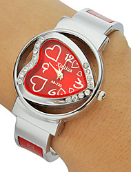 Women's Diamante Heart-shaped Dial Alloy Band Bracelet Watch (Assorted Colors) Cool Watches Unique Watches Fashion Watch