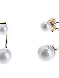 Stud Earrings Pearl Alloy Jewelry For Daily