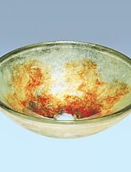 Contemporáneo Tempered Glass Sink Finish Lavabo