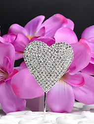 Cake Toppers Rhinestone Heart-shaped  Cake Topper