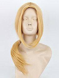 Cosplay Wigs Naruto Tsunade Golden Medium Anime Cosplay Wigs 65 CM Heat Resistant Fiber Female