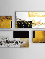 Hand Painted Oil Painting Abstract with Stretched Frame Set of 4 1309-AB0973