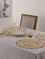 "11 ""X17"" Modern Style Poly Placemats Bege"
