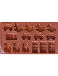 Silicone Car&Bear Shape Chocolate Candy Mold