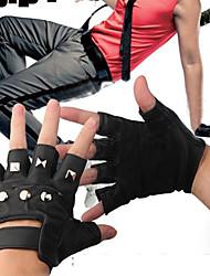 Finger moitié Halloween Gants Punk avec des rivets