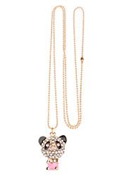 Red Panda colar cheio de diamantes