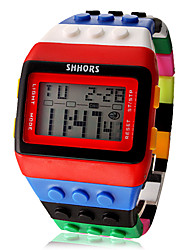 Montre Digitale Rectangulaire Style Légos
