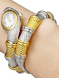 Mulheres Relógio de Moda Quartz Lega Banda Bracelete Prata / Dourada marca-