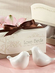 Love Birds in the Window Salt and Pepper Shakers
