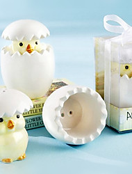 Acerca de Hatch polluelo del bebé de Salt & Pepper Shaker en caja de regalo con lazo de organza