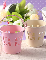 Metal Favor Pail With Bear Cut–outs – Set of 6 (More Colors)