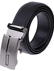 Men's Fashion Lizard Pattern Alloy Leather Belt
