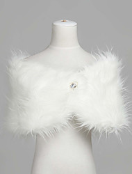 Fashion Sleeveless Faux Fur Evening/Wedding Shawl