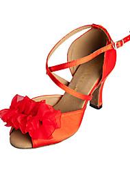 Индивидуальные Изящные женские атласная Верхний Обувь для танцев