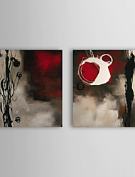 Hand Painted Oil Painting Abstract Tall with Stretched Frame Set of 2 1309-AB0975