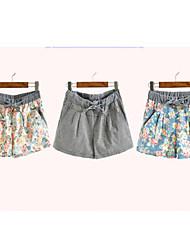 Женские Цветочный печати коротких штанишках