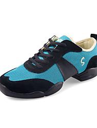 De las mujeres de cuero y tela zapatillas de baile superior (más colores)