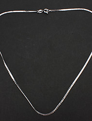 Unisex Silver Plated Alloy Chain Necklace No.15 Jewelry
