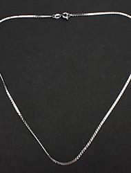 унисекса Посеребренная цепи сплава ожерелье No.15 ювелирных изделий