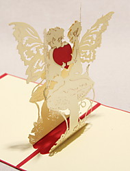 Three-dimensional Angel Greeting Card (More Colors)