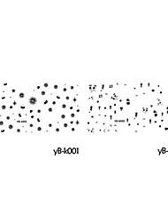 4ШТК вода трансферная печать смешанного образца ногтей наклейки мультфильм