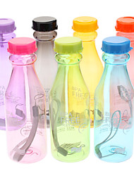 Portable BPA Free 550ml Leakproof Bottle with Strap(Random Colors)