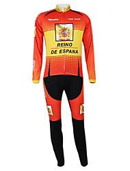 Kooplus2013 Championship Espanha Jersey poliéster e Lycra e elástico Ciclismo Suits Tecido (camisa + calça)