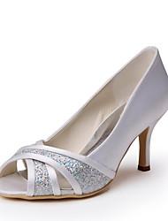 Women's Wedding Shoes Peep Toe Heels Wedding Ivory