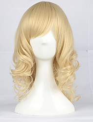 Platinum Blonde 43cm Medium Curly Classic Lolita Wig