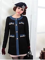 Women's Coats & Jackets , Polyester Casual KARORINLAN