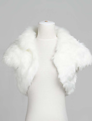 Stylish Short Sleeve Faux Fur Evening/Wedding Jacket/Wrap