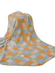 Littble Rabbits with Embroidery Coral Fleece Baby Blanket