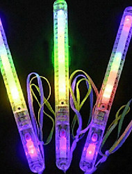Wedding Décor Colorful Plastic Flashing Led Light Stick(Random Color)-Set of 12