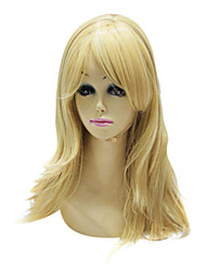 Capless Top Grade Synthetic Golden Blonde Straight Long Wig