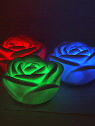 Clignotement de la LED colorées de Rose Lampe-Ensemble de 4