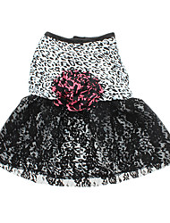 Dog Dress Black Dog Clothes Summer Leopard