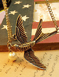 European and American style retro fashion simple wild bird pearl sweater chain autumn N506