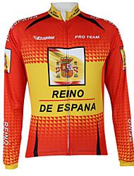 Kooplus2013 Championnat Espagne Jersey 100% Polyester fibres mèches vélo shirt avec bandes réfléchissantes