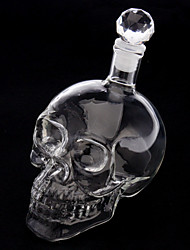 Skull Head Shape Wine Drinking Vodka Glass Bottle Decanter Novelty Gift