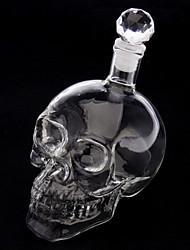 Crystal Skull Head Shape Wine Drinking Vodka Glass Bottle Decanter Novelty Gift