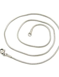 Unisex 1.2MM Silver Chain Necklace