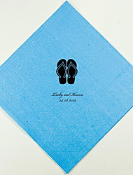 Personalized Wedding Napkins Flip-Flops(More Colors)-Set of 100