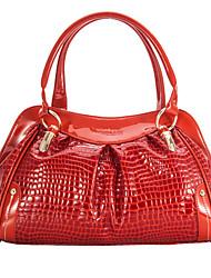 L.WEST® Women'S The Crocodile Grain High-quality Casual Fashion Shoulder Messenger Bag