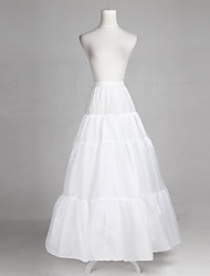 Polyester Full Bridal Gown Full-Length Wedding Slip Style/Petticoat