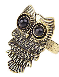 Tide female Korean fashion retro cute owl ring personality wild (random color)
