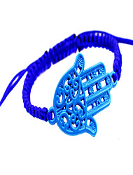 Hand weaving around the hand of Fatima alloy spray paint woven bracelet