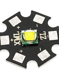 20 millimetri CREE XM-L2 U2 960lm freddo Consiglio lampadina bianca per la torcia elettrica - nero + grigio