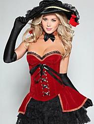 Halloween Costume de Pirate séduisant corset rouge femmes
